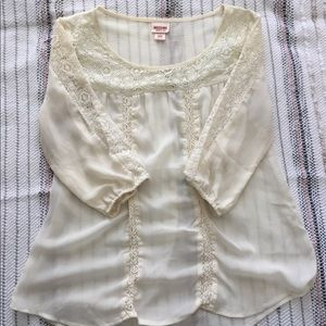Target: Mossimo Supply Co. Lace Blouse